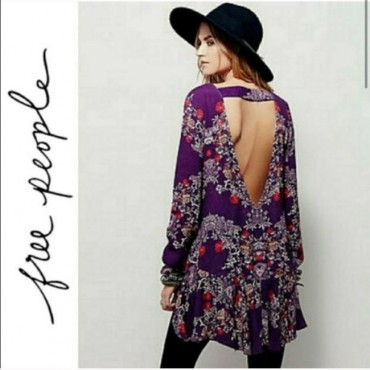 Free People Fp Smooth Talker Floral Open Back Cocktail Dress Business Casual Womens QPFP95548